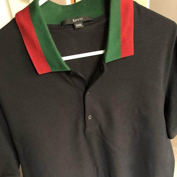 a4936bd9 Gucci Shirts | Black Mens Polo | Poshmark
